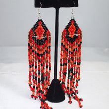 Load image into Gallery viewer, Radegunda Indian Fringe Earrings relevant view