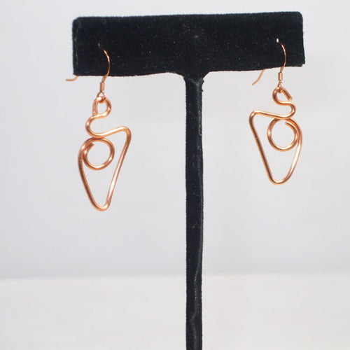 Vala Geometric Wire Earrings relevant view