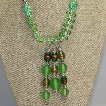 Load image into Gallery viewer, Eartha Beaded Kumihimo Necklace close view