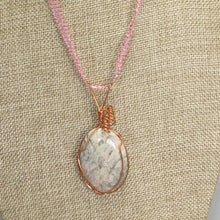 Load image into Gallery viewer, Fairlee Picture Stone Cabochon Pendant Necklace close view