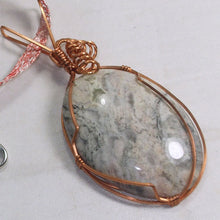 Load image into Gallery viewer, Fairlee Picture Stone Cabochon Pendant Necklace front pin up view