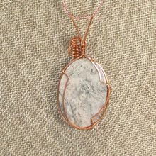 Load image into Gallery viewer, Fairlee Picture Stone Cabochon Pendant Necklace back close view