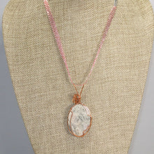 Load image into Gallery viewer, Fairlee Picture Stone Cabochon Pendant Necklace back relevant view