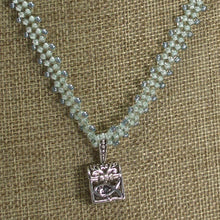 Load image into Gallery viewer, Habiba Charm Beaded Pendant Necklace front close view