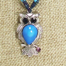 Load image into Gallery viewer, Kacy Owl Charm Beaded Pendant Necklace blow up view