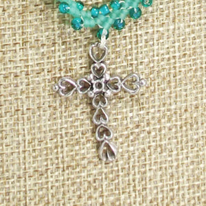 Ian Beaded Charm Pendant Necklace front blow up view