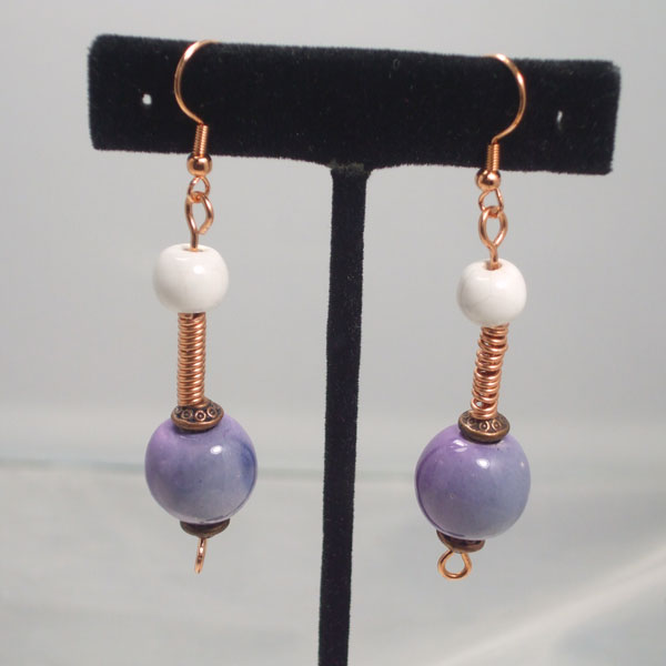 Tadita Beaded Wire Earrings relevant view