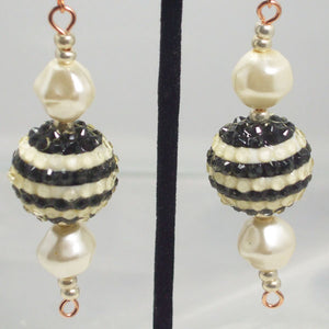 Ula Beaded Dangle Earrings close view