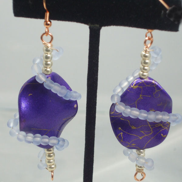 Valborga Beaded Dangle Earrings relevant view