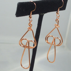 Baka Wire Earrings close view