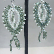Load image into Gallery viewer, Lara Beaded Peyote Earrings close view