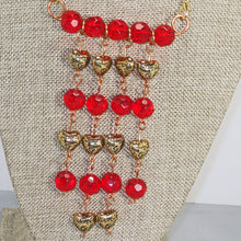 Load image into Gallery viewer, Sadhana Beaded Wire Necklace close up front view