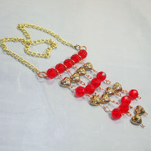 Load image into Gallery viewer, Sadhana Beaded Wire Necklace flat view