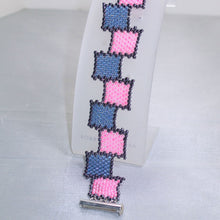 Load image into Gallery viewer, Raeden Peyote Squares Bracelet relevant view