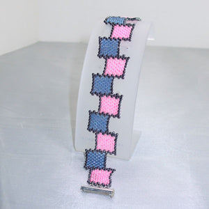 Raeden Peyote Squares Bracelet close up view
