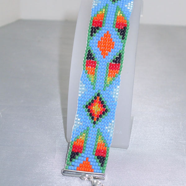 Quibele Loom Native Bracelet close up view