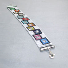 Load image into Gallery viewer, Page Loom Squares Bracelet relevant view