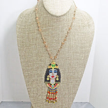 Load image into Gallery viewer, Mackenzie Egyptian Beaded Pendant Necklace relevant view