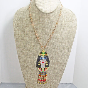 Mackenzie Egyptian Beaded Pendant Necklace relevant view