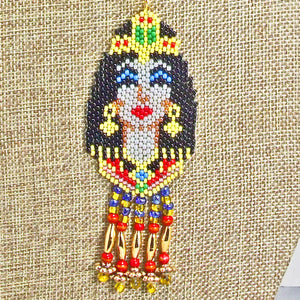Mackenzie Egyptian Beaded Pendant Necklace pin up view