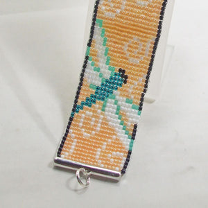 Jalini Loom Dragon Fly Bracelet close up view