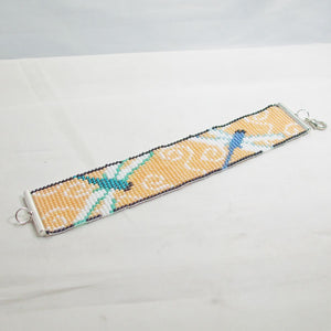 Jalini Loom Dragon Fly Bracelet flat view