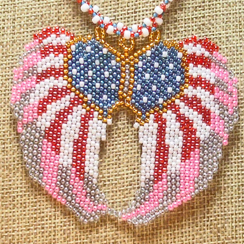 Dai Beaded Pendant Necklace close up view front