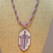 Load image into Gallery viewer, Edelburga Beaded Pendant Necklace close up view