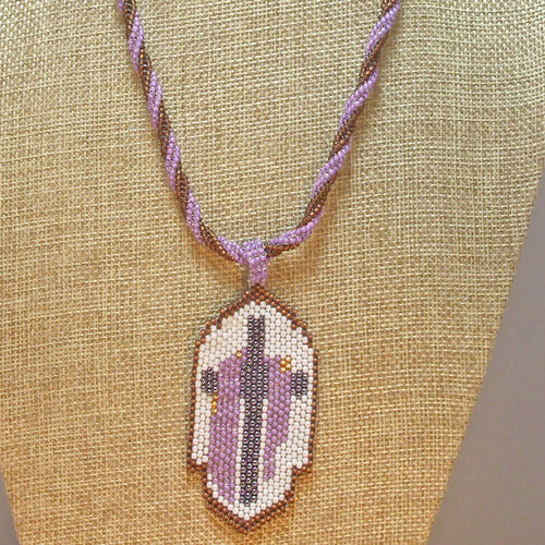Edelburga Beaded Pendant Necklace close up view