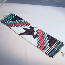 Load image into Gallery viewer, Lakota Native Loom Bracelet flat view