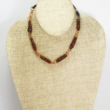 Load image into Gallery viewer, Ulva Wire Design Fibre Bead Necklace relevant front view