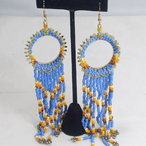 Wanika Hoop Beaded Earrings close up view