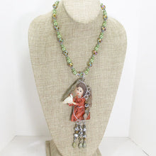 Load image into Gallery viewer, Jacelyn Christmas Angel Pendant Necklace relevant view