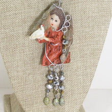 Load image into Gallery viewer, Jacelyn Christmas Angel Pendant Necklace blow up view