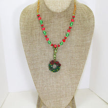 Load image into Gallery viewer, Bandi Beaded Christmas Necklace relevant front view