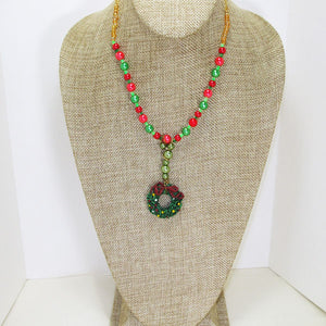 Bandi Beaded Christmas Necklace relevant front view