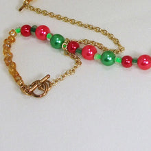Load image into Gallery viewer, Bandi Beaded Christmas Necklace clasp view