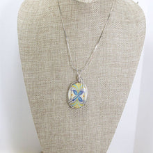 Load image into Gallery viewer, Kaeley Wire Wrap Polymer Clay Cabochon Pendant Necklace relevant front view