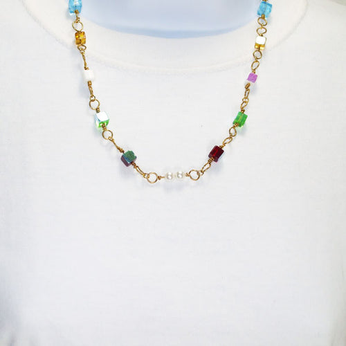 Vanessa OES Costume Jewelry Necklace relevant front view