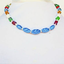 Load image into Gallery viewer, Pana OES Beaded Costume Jewelry Necklace relevant front view