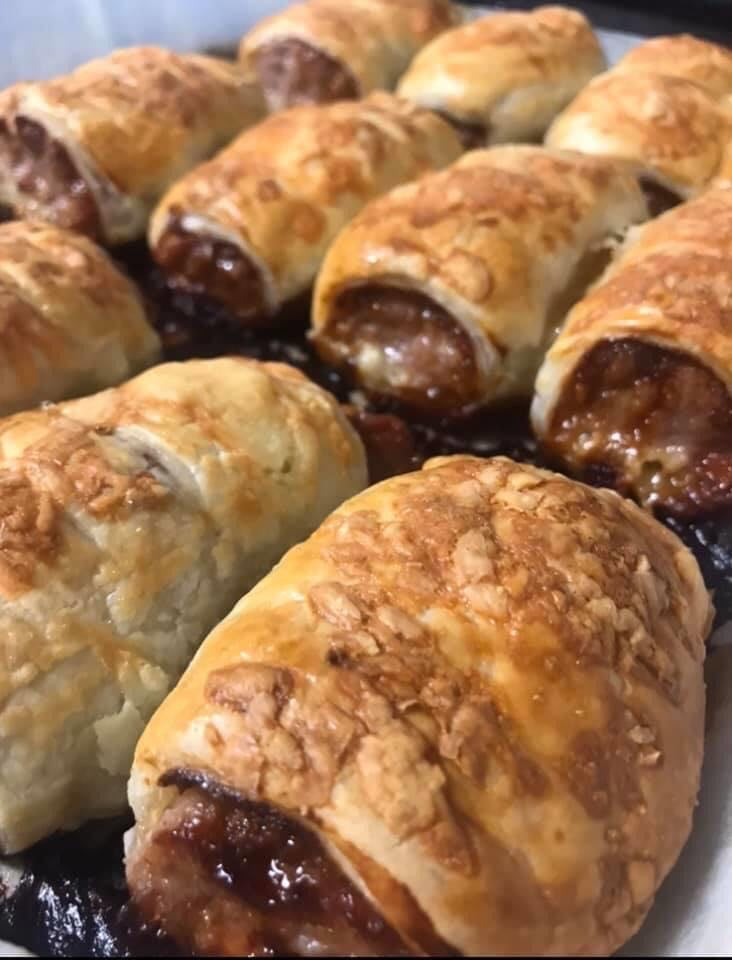 Caramelised Onion Sausage roll from Kayla's kitchen