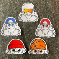 Clear Sticker Pack (5 stickers)