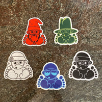 Monochrome Sticker Pack (5 stickers)