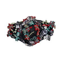 Load image into Gallery viewer, Midnight Garden Mask by Carol Chen - Maskela Reusable Fashionable Face Masks