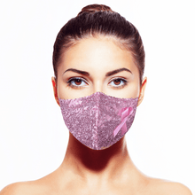 Load image into Gallery viewer, Pink Courage Mask - Maskela Reusable Fashionable Face Masks