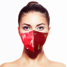 Load image into Gallery viewer, Bamboo Mask - Red - Maskela