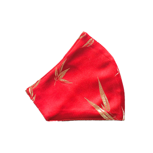 Bamboo Mask - Red - Maskela