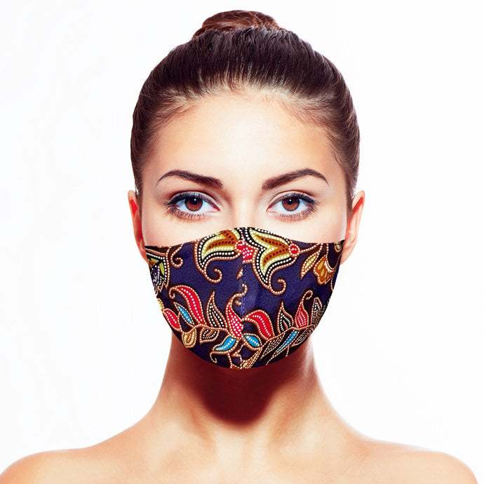 Batik Mask - Blue - Maskela Reusable Fashionable Face Masks