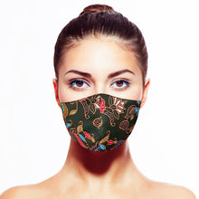 Load image into Gallery viewer, Batik Mask - Green - Maskela Reusable Fashionable Face Masks