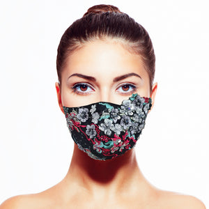 Midnight Garden Mask by Carol Chen - Maskela Reusable Fashionable Face Masks